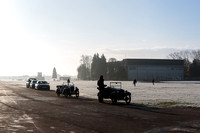 Cold frosty morning at Bicester Heritage